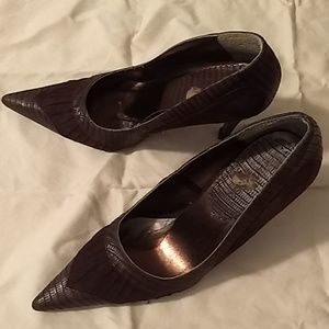 Brown Dollhouse Size 7 Pointed Heels